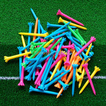 "Free Shipping New 100 pcs/bag 2 5/8"" 67mm Zero Friction 7 Prong Assorted Color Plastic Golf Tees(China (Mainland))"