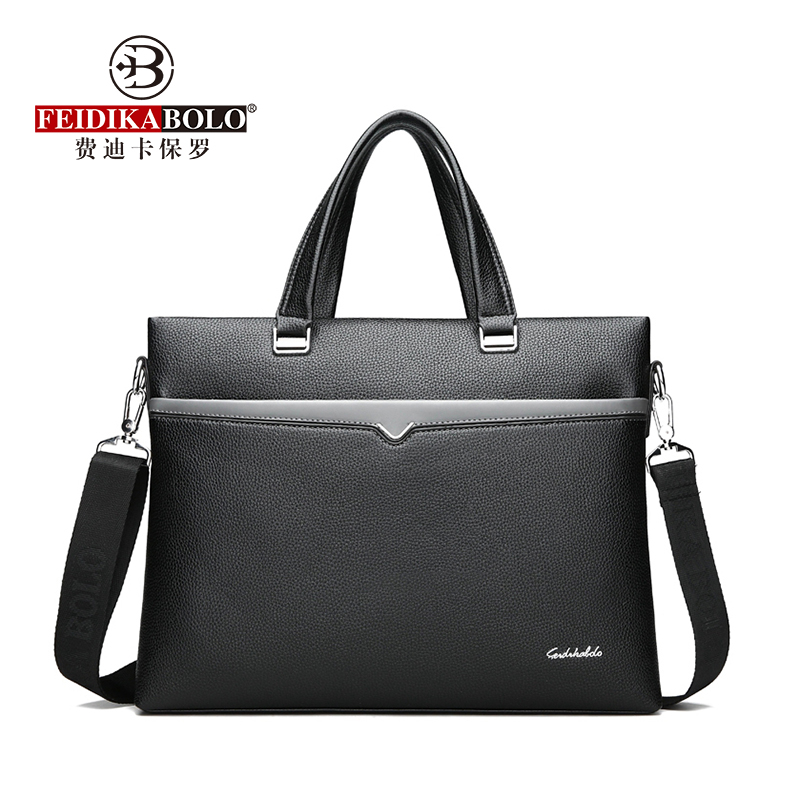 FEIDIKABOLO Men's Handbag New Fashion Computer Business Bag Leisure Large Capacity Briefcase Famous Brand Leather Men Bag Casual