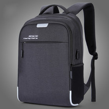 все цены на New Fashion Men Laptop Backpack External Usb Charge Swiss Computer Backpacks Anti-theft Backpack Waterproof Bags For Men Women онлайн