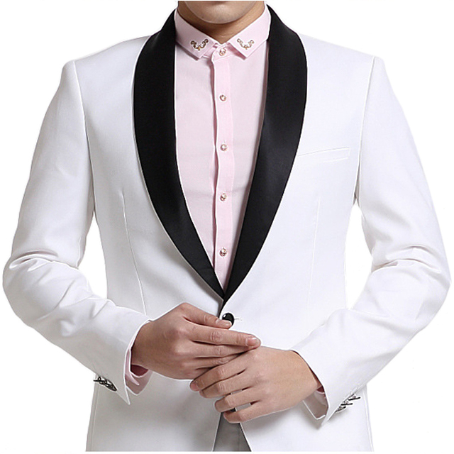 Brand Men Suit Costume Homme 2015 New Arrival Fashion Design White ...