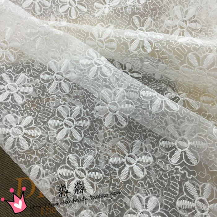 ᗗEugen hilo blanco tela tridimensional de encaje de flores blusa de ...