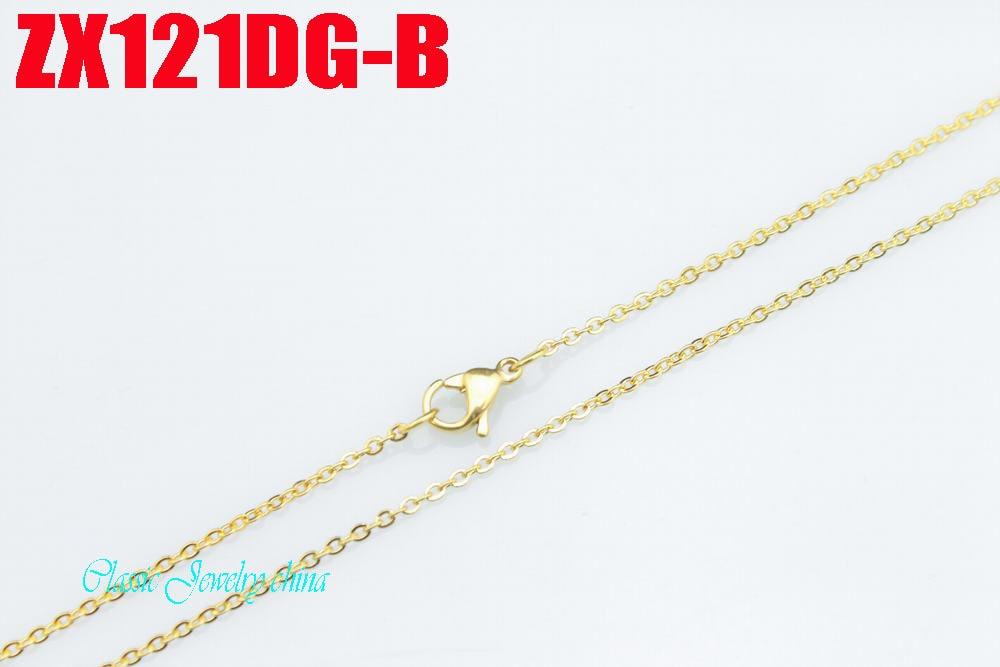 Ոսկե գույնի չժանգոտվող պողպատե վզնոց - Նորաձև զարդեր - Լուսանկար 3