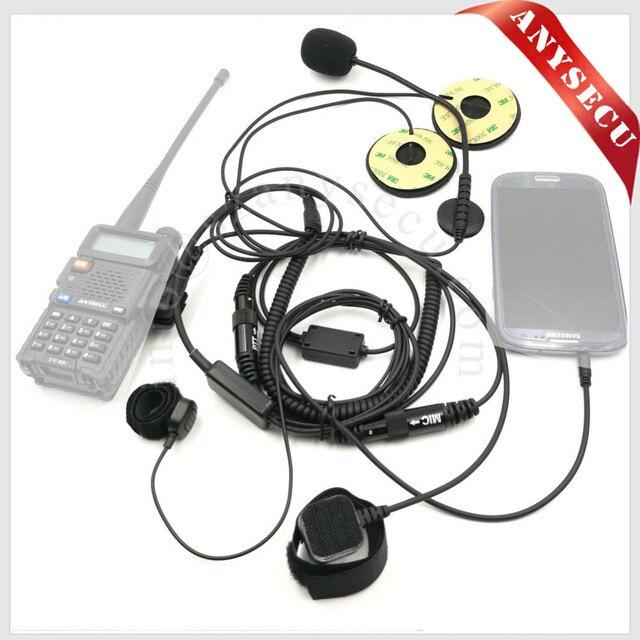 2 pcs Motorcycle Half close Helmet Headset 3.5mm/K1 Plug MIC-HF-3.5L+K1 for Radio Baofeng WOUXUN TYT /Mobile Phone