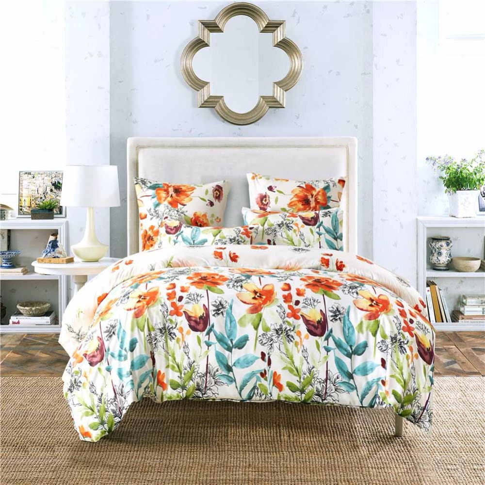 Home Textiles Bedding Set Bedclothes Flower Pattern Duvet Cover Pillowcase Nordic Pastoral Style Bed linen Twin Queen King Size