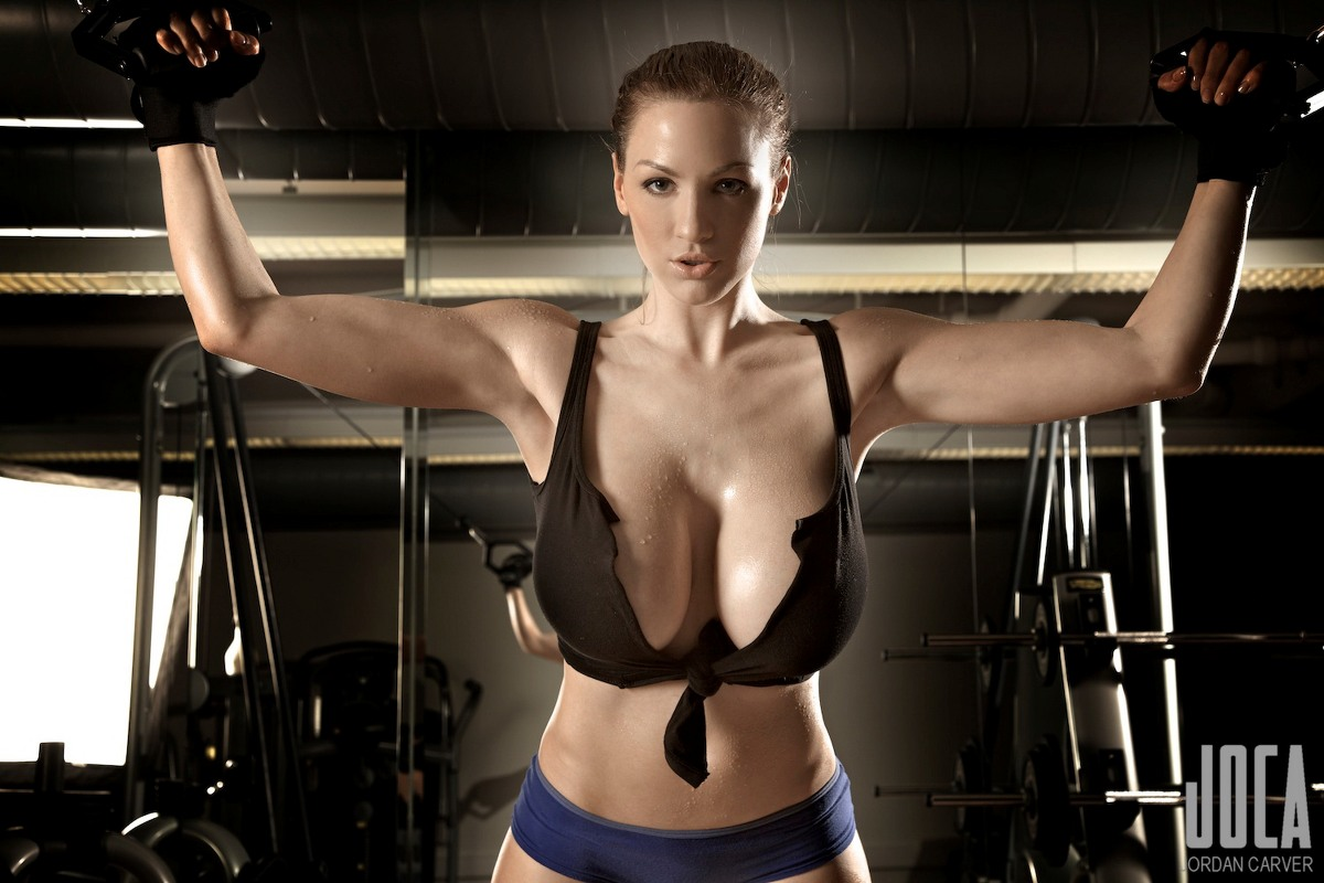 Jordan carver bodybuilding in the gym pyr wall art