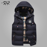 Men S Vest Fashion Slim Fit Winter Sleeveless Jacket Men Autumn Hooded Waistcoats Coletes Masculino Casual