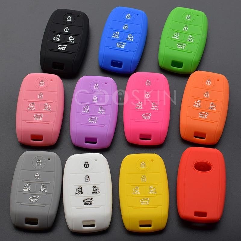 100pcs lot silicone rubber car key cover case for KIA grand carnival Sorento Sedona MPV 5