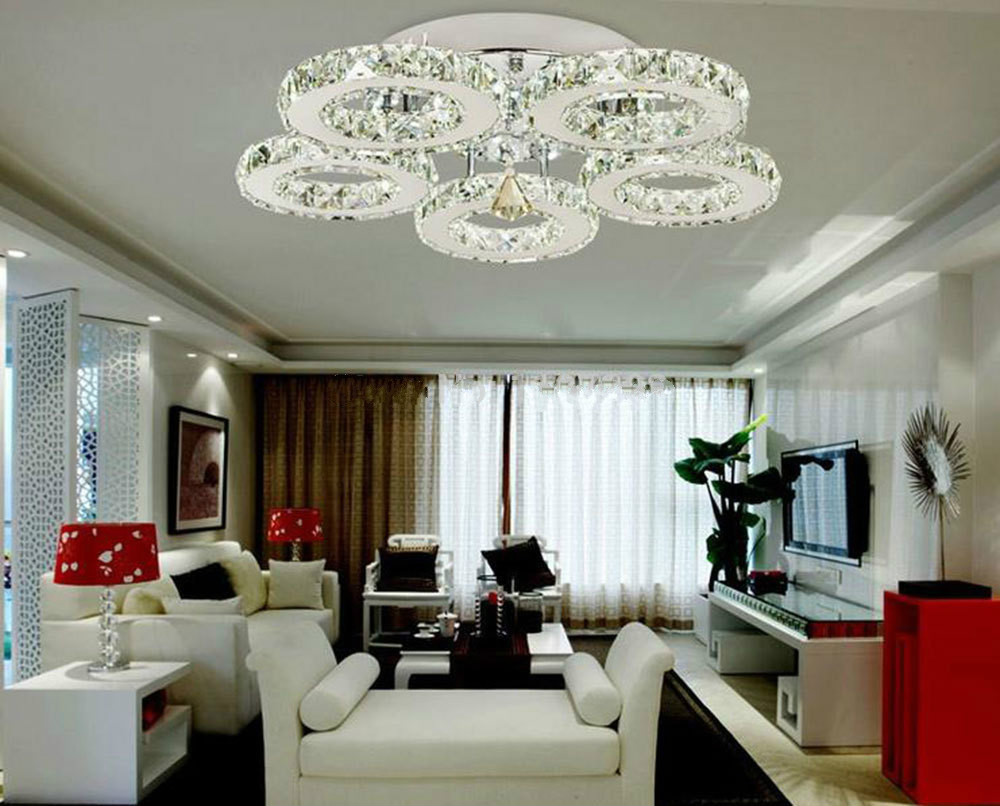 us $212.0 20% off|2016 new arrival modern design restaurant led crystal  chandelier living room light led lamps lamparas lights lustres  luminaire|led