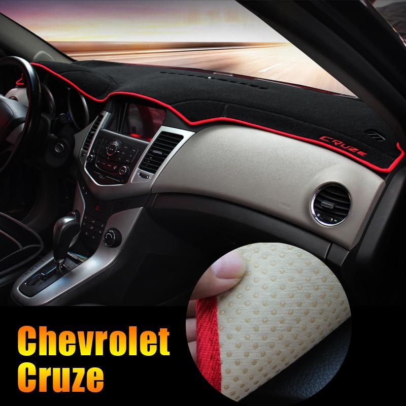 Para Chevrolet Cruze 2009-2014 2015 2016 2017 2018 LHD Painel Do Carro Instrumento Almofada Mesa Plataforma Evitar Esteiras de Luz capa Autocolante