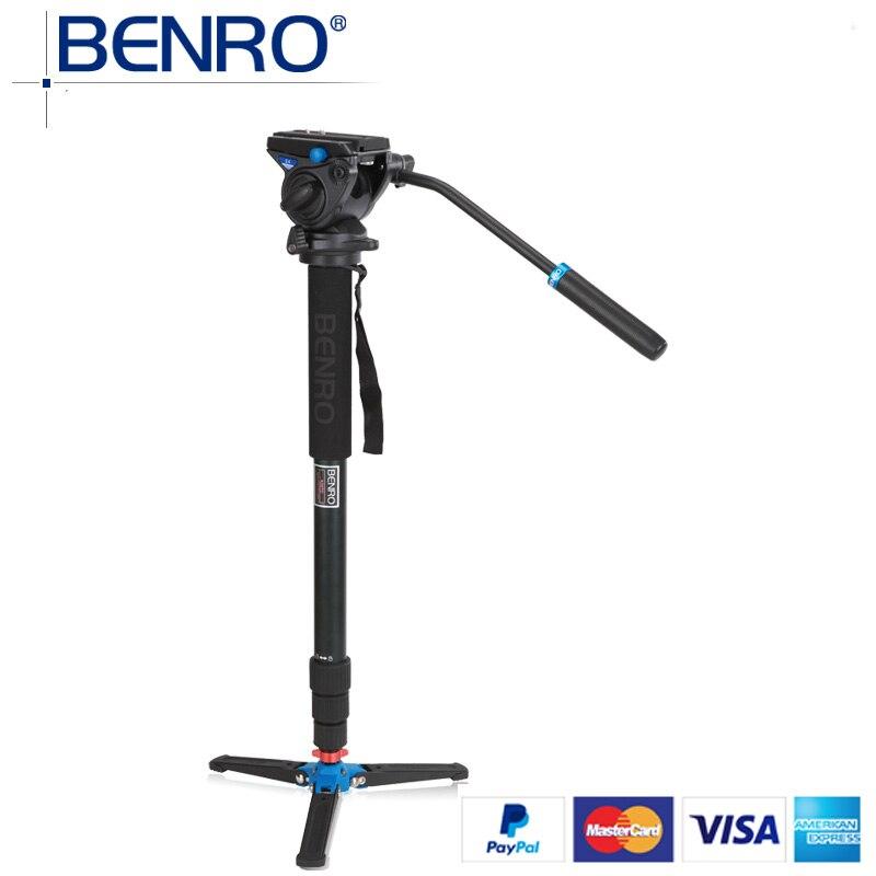 Benro Monopods A48TDS4 Aluminum Monopod Sport Scoping Bird Watching Monopod S4 Video Head 4 Joint Max Load 4kg