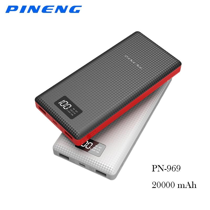 imágenes para PINENG Doble Carga DEL USB 20000 mah banco de energía portátil con Una Función de Li-Polímero de Baterías de Alimentación Externa para oneplus 5 iphone