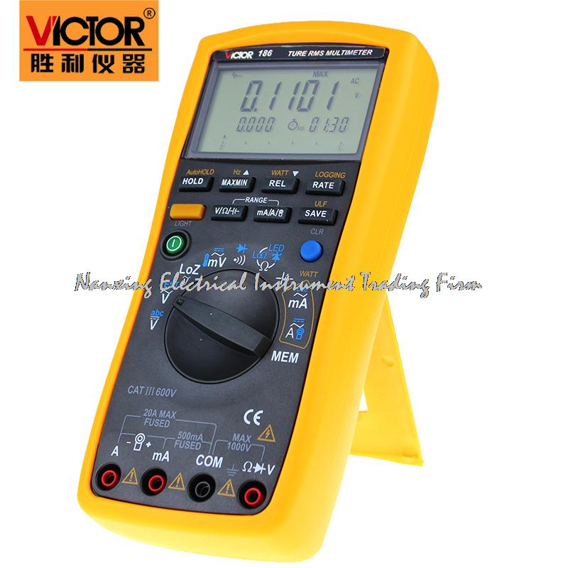 Fast arrival VICTOR digital multimeter VC186 record type RMS high precision universal computer interface watchband  цены