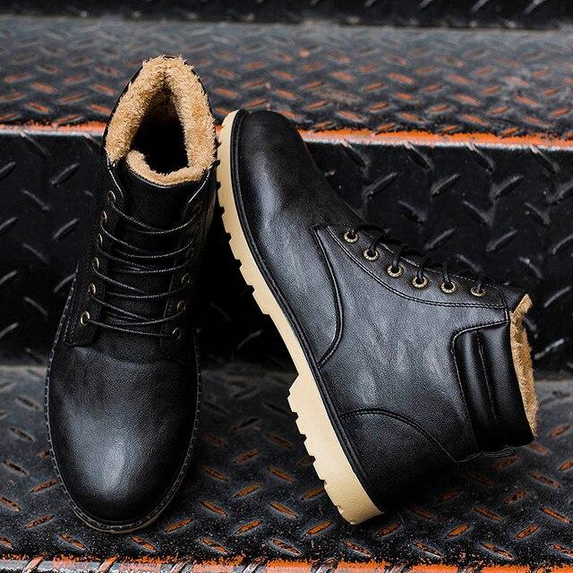 겨울 Boots Men Super Warm 편안한 Martin Boots (High) 저 (-top Lace-업 Fashion winter shoes men Zapatillas 겨울 men Boots