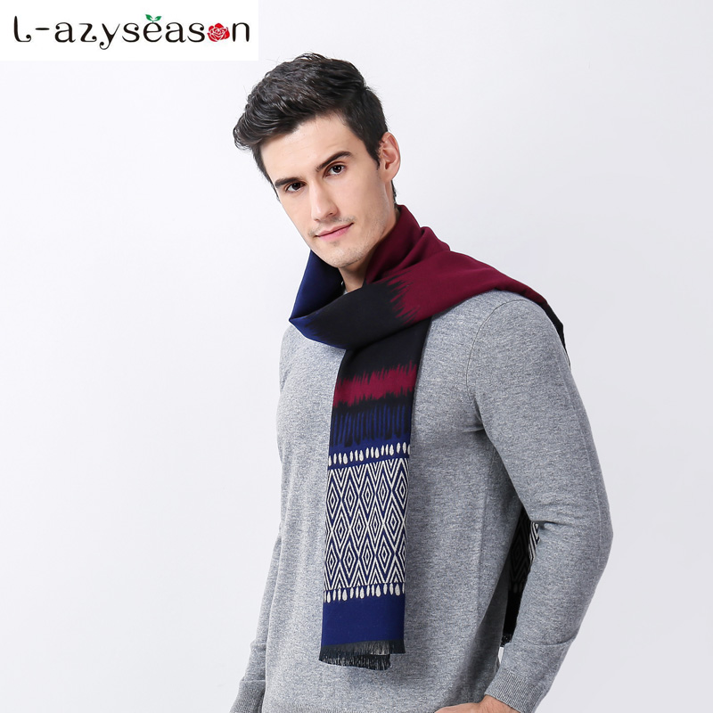2018 Most stylish men hijab Design Soft Luxurious Classic Cashmere Feel Winter Scarf Man Scarves Wraps