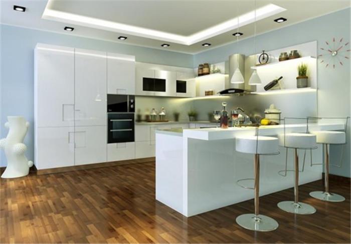 Hochglanz weiß lackiert küchenschrank China möbel Foshan Fabrik in ...