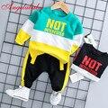 2019 г. новый осенний спортивный костюм с надписью для мальчиков Детский топ с надписью + штаны комплекты одежды из двух предметов
