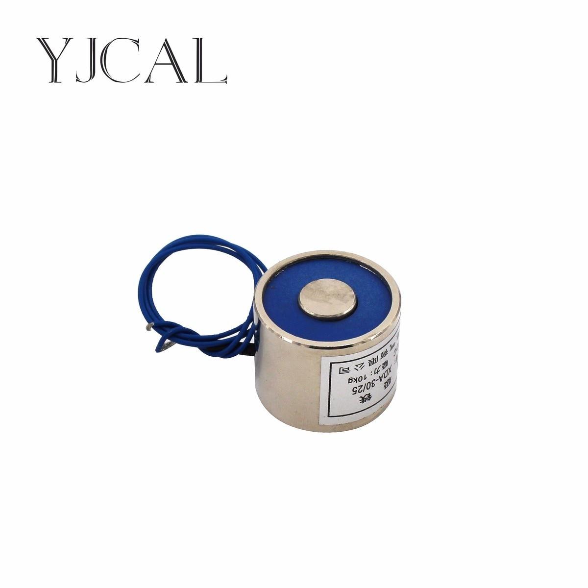 YJ-30/25 DC 12V 24V Circular Micro Holding Electric Magnet Lifting 15KG Solenoid Sucker Electromagnet
