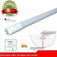 Free Shipping 10pcs Lot 2835 T8 Led Tube 0 6m 1 2m Led Sound Reaction Radar