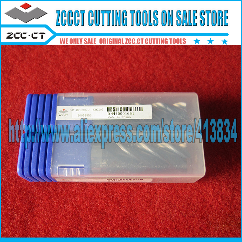 1 piece GM-4E-D20.0  ZCC.CT GM Cemented Carbide CNC 4 Flute Flattened end mill with straight shank  цены