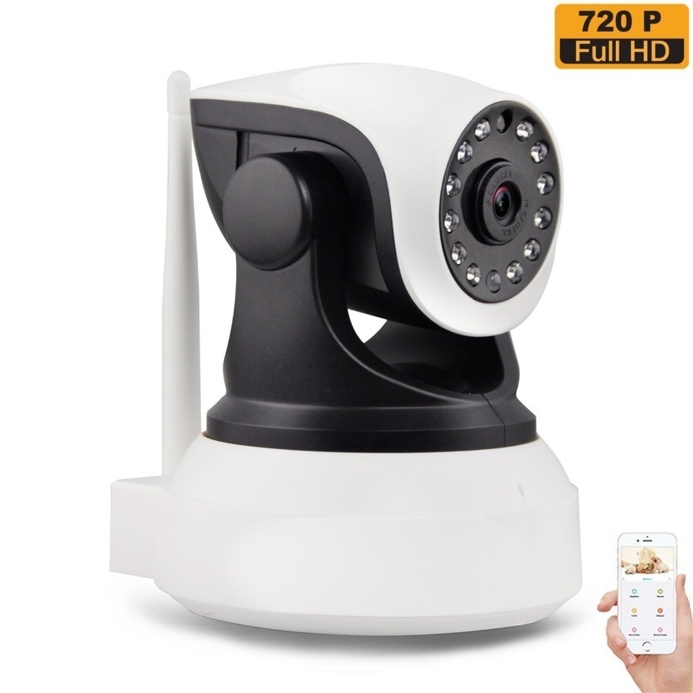 Wireless Wi-Fi Security Camera 720p HD Pan Tilt IP Network Surveillance Webcam Day Night Vision, Baby Monitor,CamHi APP 720p ip camera wi fi pan tilt baby monitor wireless network security cctv camera plug and play two way audio day night hiseeu