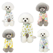 Trsnser Dog Dress Pet Spring And Summer Yellow Print Rabbit Dress Dogs Costumes Cotton Pet Clothes Vestido Perro 19Mer18 P35(China)
