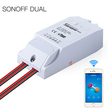 2017 Sonoff Twin Wi-fi WiFi Sensible Swap Module Residence Automation APP Distant Management Module