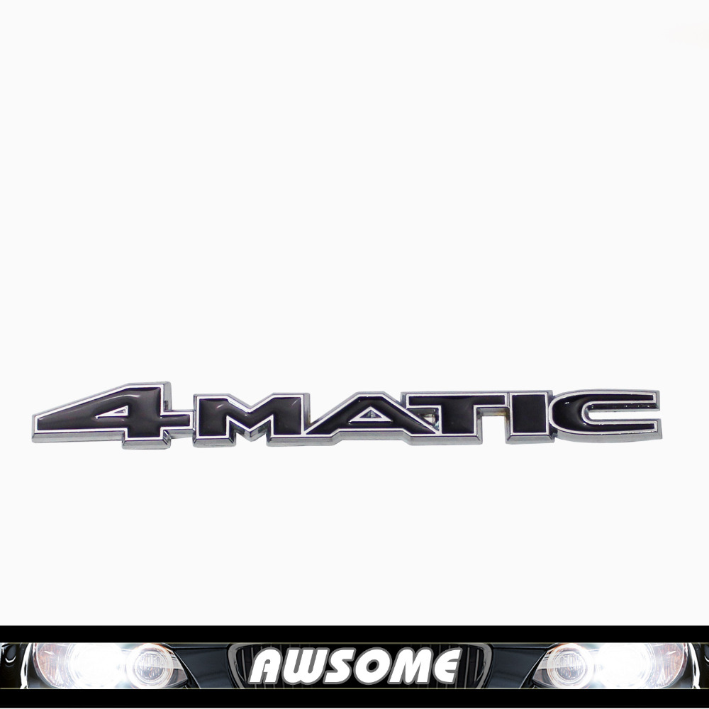 4 Matic for Benz A 220 817 08 15 AAA W124 W210 C E CL CLS R S Class Rear Emblem Decal Badge Sticker