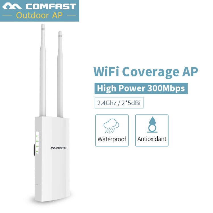 300Mbps 2.4G Outdoor CPE WiFi AP Router Long Range WiFi Cover Signal Hotspot Amplifier Repeater Wireless 48V PoE Access Point
