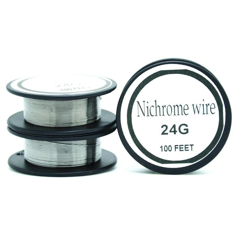 Fil de Nichrome 24 jauge 100 FT 0.5mm résistance cantale AWG résistance de fil de chauffage fil de résistance alliage fil de chauffage Mentos