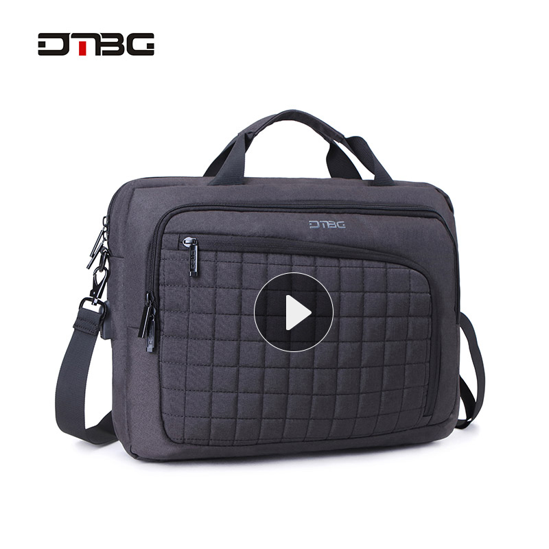 DTBG Laptop Smart Briefcase Black Gray 15.6 Computer Plaid Handbag Men Women  Business Suitcase Messenger Sac Office Bags Bolsos-in Briefcases from  Luggage ... b2eb23d8dabb4