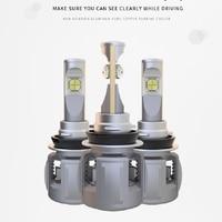 2PCS 120W 15600LM XHP 70 LENS CHIPS X70 LED Headlight H8 H9 H11 Front Fog Lamps Bulbs H4 H7 9005/6 HB3/4 9012 D1S/D2S/D3S/D4S 6K