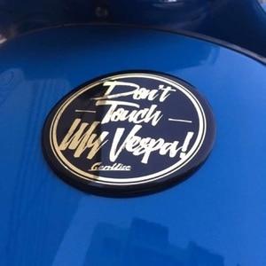 Image 4 - Cho xe vespa mặt trước Logo dán cường lực Nhôm hợp kim miếng dán Bảng Tên Nam Châm bảng tên Miếng Dán