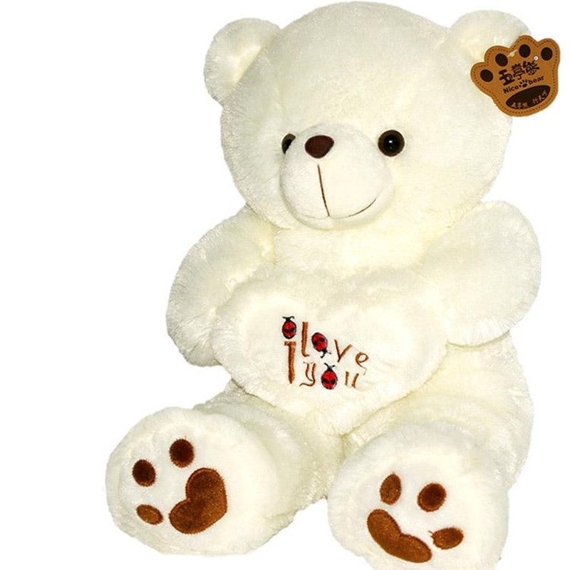 1pc 50cm&70cm <font><b>Stuffed</b></font> Plush <font><b>Toy</b></font> Holding <font><b>LOVE</b></font> <font><b>Heart</b></font> Big Plush Teddy <font><b>Bear</b></font> Soft Gift for Valentine Day Birthday Girls' Brinquedos