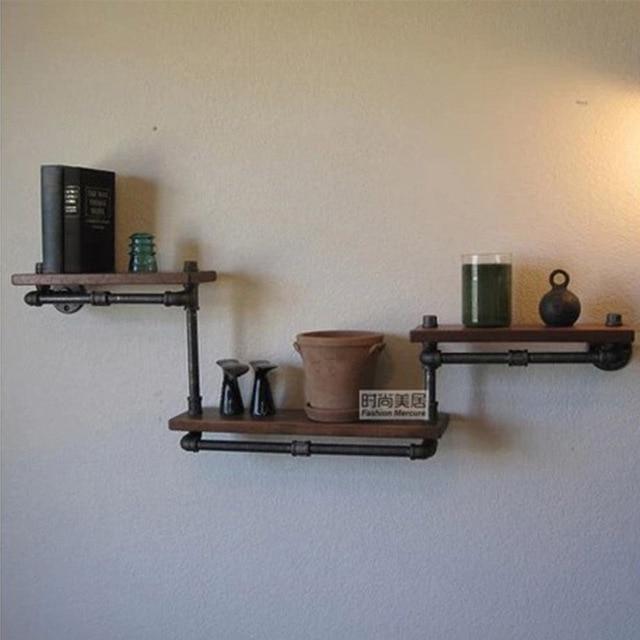 Spiksplinternieuw Amerikaanse retro om de oude smeedijzeren houten plank boekenkast MW-14
