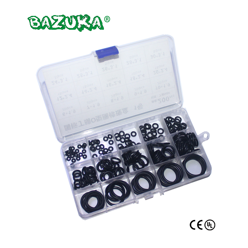 200PCS/1 BOX PCP Paintball NBR Rubber Gasket Replacements Sealing O-rings Durable Socket Black 15 Sizes Available O-rings