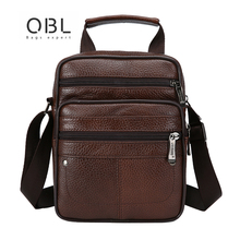 цены QiBoLu 2018 New Men's Leather Bags Flap Travel Business Messenger Bag Men Crossbody Casual Solid Zipper Shoulder Bag Handbags