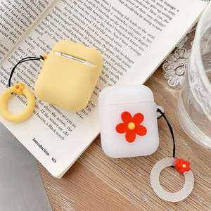 Image 2 - New Hot Korean style ins small flower Girls Earphone Silicone protective cover For Airpods headphones case box Cases Waterproof