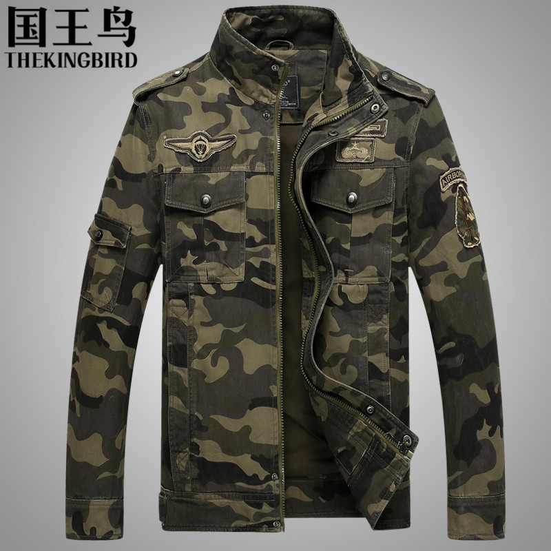Men s Jacket Autumn And Winter Men s camouflage jacket flight military pilot ma1 bomber air