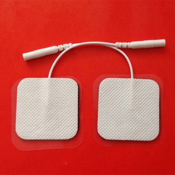Free Shipping 200pcs/lot(100 pairs) 4*4cm Tens Electrode Pads for Slimming Massage Digital Therapy Machine Massager