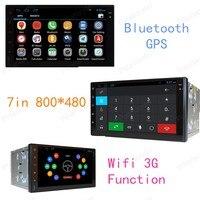 2 Din Универсальный Android 4,4 Полная сенсорная панель gps навигация автомобильный dvd радиоплеер для автомобиля радио 2 Din четырехъядерный зеркальн
