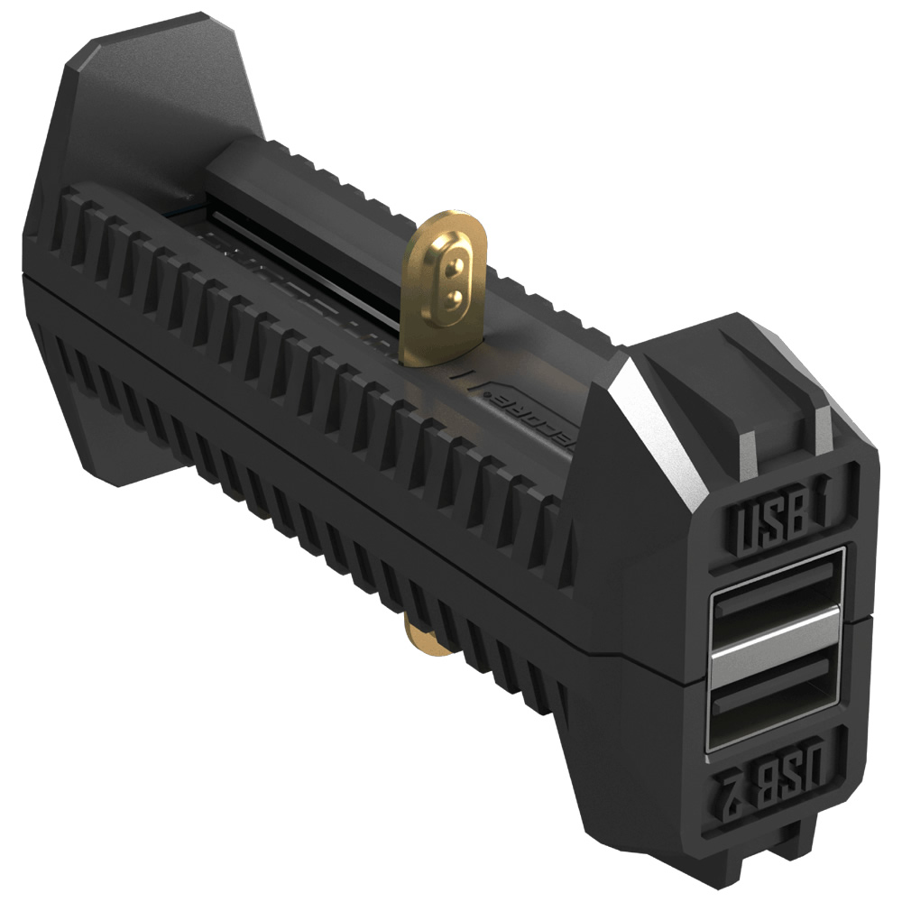 2018 NITECORE F2 Flessibile PowerBank 2A IMR BATTERIA AGLI IONI Di Li-Ion Intelligente Della Batteria 2 Slot Adattatore Del Caricatore Del USB Fonte Di Energia Portatile Leggero