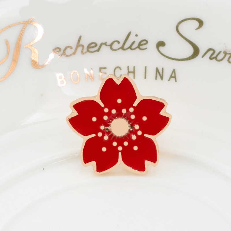 Kartun Bunga Bros untuk Wanita Enamel Daisy Merah Hitam Rose Colorful Sun Shirt Lapel Pin Tas Lencana Perhiasan Hijab pin Hadiah