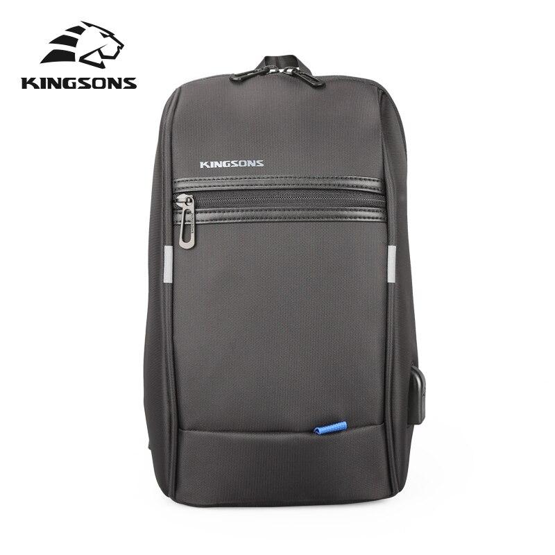 Kingsons KS3174w 10.1 pouces poitrine sac à dos pour hommes femmes décontracté sac à bandoulière loisirs voyage unique épaule sac à dos