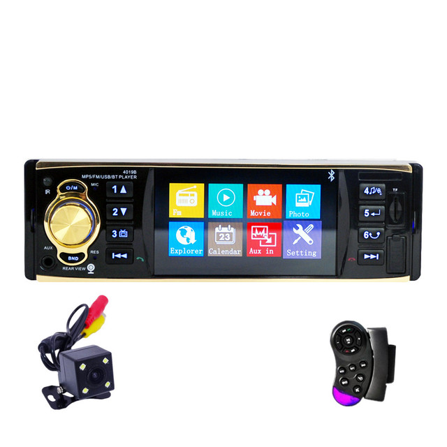 Fonwoon 1 Din Car Multimedia Player Autoradio Bluetooth MP3 MP5 Player Auto Stereo Car DVD USB SD AUX Support Rear View Camera