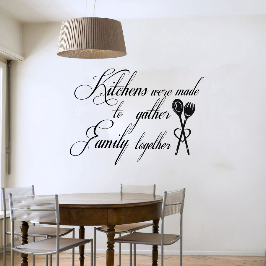 Kitchen Wall Sayings Vinyl Lettering: Kitchen Were Made To Gather Family Together Art Words Wall Decals Vinyl Waterproof Kitchen Wall