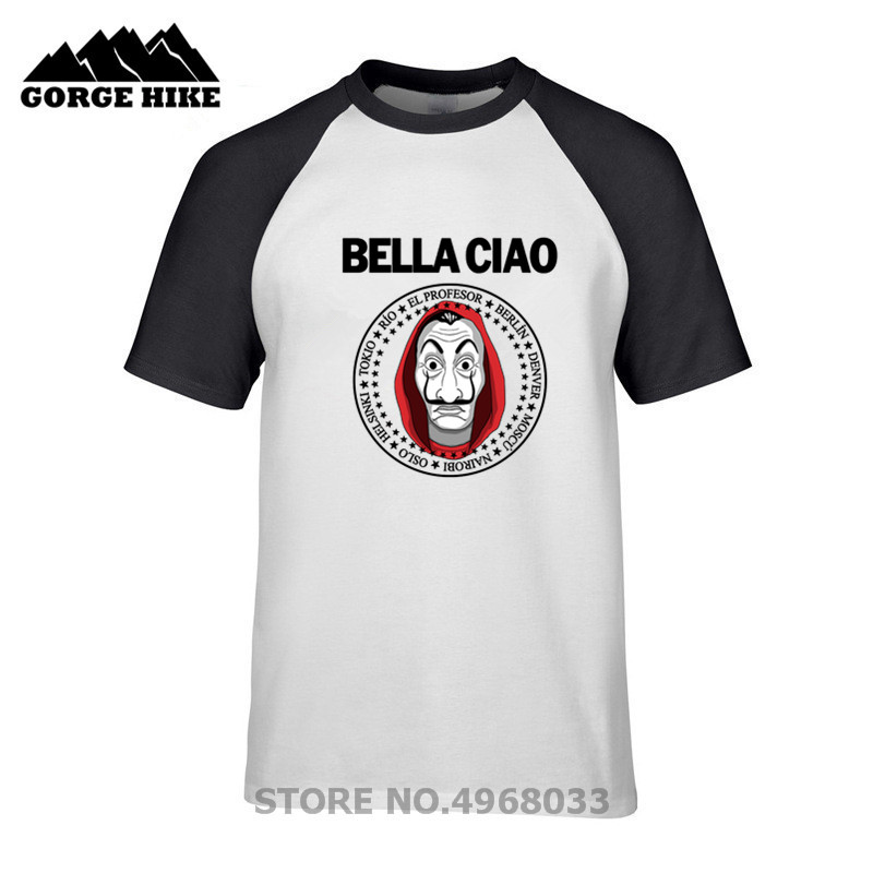 La Casa De Papel  Money Heist Bella Ciao Tshirt El Profesor Bella Ciao T Shirt Plsu Size Tokyo T-shirt Poplar Tees Short-sleeved