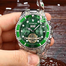 GUANQIN Mechanical Watch Men Skeleton Tourbillon style Role Automatic Watch Men Waterproof Watch Swimming relogio masculino x