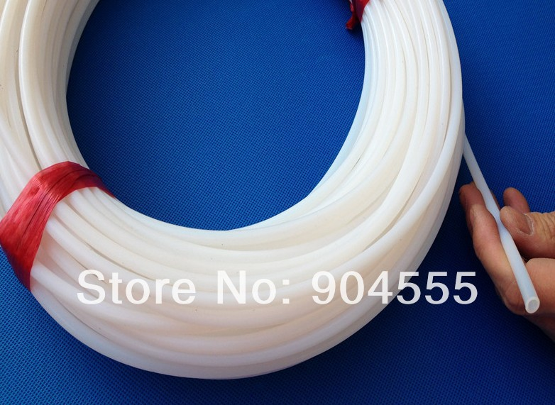 High concentration ozone resistant  Tube PTFE,Teflon pipe,Polytetrafluoroethylene  tube ID 4MM,OD6MM  (4X6MM) white color high quality white color ptfe teflon gasket d t w 100 2 5mm