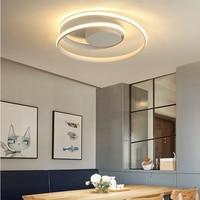 Lustre Ceiling Lights LED Lamp For Living Room Bedroom Study Room Home Deco AC85 265V Modern White surface mounted Ceiling Lamp