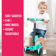 Высокое качество, регулируемая высота, широкая шина, 3 колеса, детский скутер, подарок на Рождество